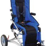 niebieski wózek inwalidzki rodeo